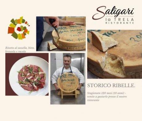 Il risotto al Sassella, formaggio Valtellinese, bresaola e rucola